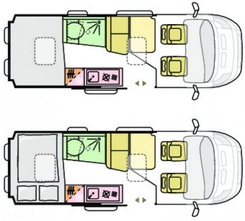 Adria Twin ALL-IN Axess Layout